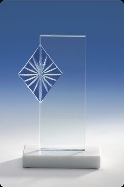 Mehrteilige Glasplakette