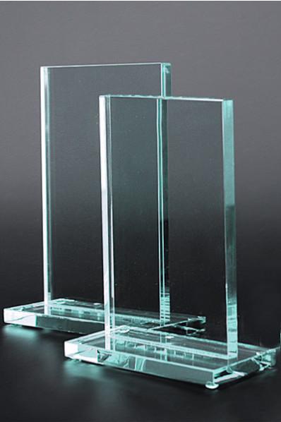Rechteckiges Glasabzeichen