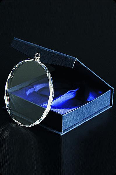 Medaille aus Kristall