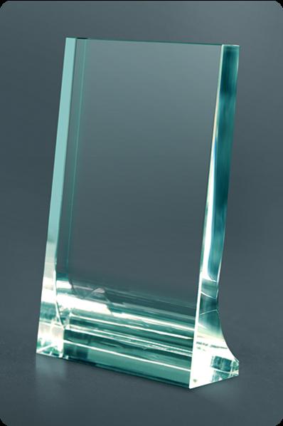 Plakette aus Kristall