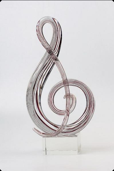 """Kunstglas """"Violinschlüssel"""""""